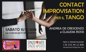 Laboratorio di Contact Improvisation per il Tango