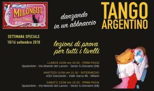 Lezioni di prova a Milano - Settembre 2018